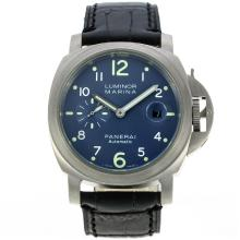 Replik Panerai Luminor Marina Automatic mit Blue Dial-Leather Strap - Attraktive Panerai Luminor Marina Uhr für Sie 30994
