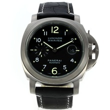 Replik Panerai Luminor Marina Automatic mit schwarzem Zifferblatt-Leather Strap - Attraktive Panerai Luminor Marina Uhr für Sie 30993