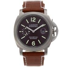 Replik Panerai Luminor Marina Automatic mit Brown Dial-Full Titanium Case - Attraktive Panerai Luminor Marina für Sie 31482 Schauen