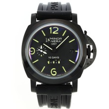 Repliki Panerai Luminor GMT 10 Days PVD Case with Black Dial – Attractive Panerai Power Reserve / GMT Watch for You 31409