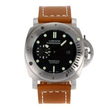Replik Panerai Luminor Submersible Automatik mit schwarzem Zifferblatt-Leather Strap 47mm - Attraktive Panerai Die Ultra Big 47mm Uhr für Sie 31302
