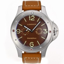 Repliki Panerai Luminor 8 Days Automatic with Brown Dial-Oversized Version – Attractive Panerai Luminor Marina Watch for You 31124
