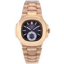 Repliki Patek Philippe Nautilus Automatic Full Rose Gold with Blue Dial – Attractive Patek Philippe Nautilus Watch for You 34643