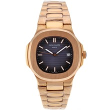 Repliki Patek Philippe Nautilus Automatic Full Rose Gold with Blue Dial – Attractive Patek Philippe Nautilus Watch for You 34629