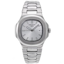 Repliki Patek Philippe Nautilus with Silver Dial S/S – Attractive Patek Philippe Nautilus Watch for You 34625