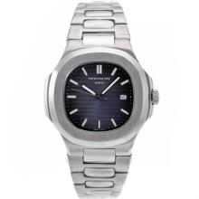 Repliki Patek Philippe Nautilus with Blue Dial S/S – Attractive Patek Philippe Nautilus Watch for You 34624