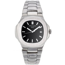 Repliki Patek Philippe Nautilus Automatic with Black Dial S/S – Attractive Patek Philippe Nautilus Watch for You 34622
