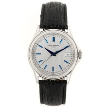 Replik Patek Philippe Classic Automatic Blue Stick Marker mit Silver Dial-Saphirglas - Attraktive Patek Philippe Classics / Others for You 34456 Schauen