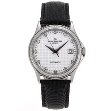 Repliki Patek Philippe Calatrava Automatic Diamond Markers with White Dial-Sapphire Glass – Attractive Patek Philippe Calatrava Watch for You 34437