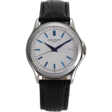 Replik Patek Philippe Classic Automatic Blue Stick Marker mit Silver Dial-Saphirglas - Attraktive Patek Philippe Classics / Others for You 34378 Schauen