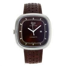 Replik Tag Heuer Silverstone mit Brown Dial-Brown Leather Strap 27495