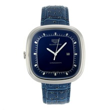 Replik Tag Heuer Silverstone mit Blue Dial-Blue Leather Strap 27494