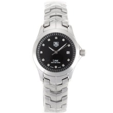 Repliki Tag Heuer Link Diamond Marking with Black Dial S/S -Lady Size – Attractive Tag Heuer Link Watch for You 28095