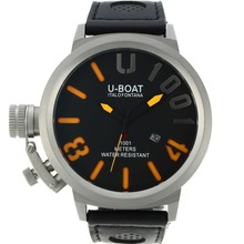 Replik U-Boat Italo Fontana U 1001 orange Nadeln Markers mit schwarzem Zifferblatt-Leather Strap - Attraktive U-Boat Italo Fontana for You 35245 Schauen