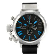 Repliki U-Boat Italo Fontana Working Chronograph with Black Dial-Blue Markers – Attractive U-Boat Italo Fontana Watch for You 35161