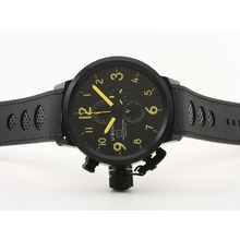 Replik U-Boat Italo Fontana Working Chronograph PVD Case Black Dial with Yellow Marking-Rubber Strap - Attraktive U-Boat Italo Fontana for You 35333 Schauen