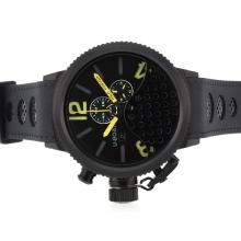 Replik U-Boat Italo Fontana Working Chronograph PVD Gehäuse mit Yellow Marker-Rubber Strap - Attraktive U-Boat Italo Fontana for You 35319 Schauen