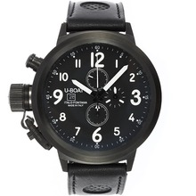 Replik U-Boat Italo Fontana Working Chronograph PVD Case Black Zifferblatt mit weißen Indexen-Leather Strap - Attraktive U-Boat Italo Fontana for You 35313 Schauen
