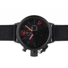 Replik U-Boat Italo Fontana Working Chronograph PVD Case Black Dial with Red Marker-Leather Strap - Attraktive U-Boat Italo Fontana for You 35310 Schauen