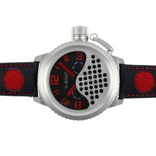Replik U-Boat Italo Fontana Tourbillon Automatic Black Dial with Red Marker-Leather Strap - Attraktive U-Boat Italo Fontana for You 35297 Schauen