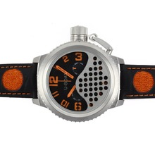 Replik U-Boat Italo Fontana Tourbillon Automatic Black Dial with Orange Marker-Leather Strap - Attraktive U-Boat Italo Fontana for You 35296 Schauen