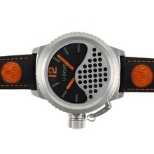 Replik U-Boat Italo Fontana Automatic Black Dial with Orange Marker-Leather Strap - Attraktive U-Boat Italo Fontana for You 35293 Schauen