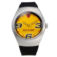 Replik Ferrari mit Yellow Dial-Rubber Strap - Attraktive Ferrari Watch für Sie 36952