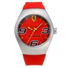 Replik Ferrari mit Red Dial-Rubber Strap - Attraktive Ferrari Watch für Sie 36951
