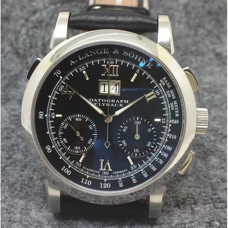 Replica A. Lange & Sohne Datograph Flyback BM Stainless Steel Black Dial Swiss Lemania 84745