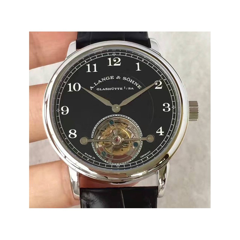 Replica A. Lange & Sohne 1815 Tourbillon 730.025 Stainless Steel Black Dial Swiss L102.1 84735