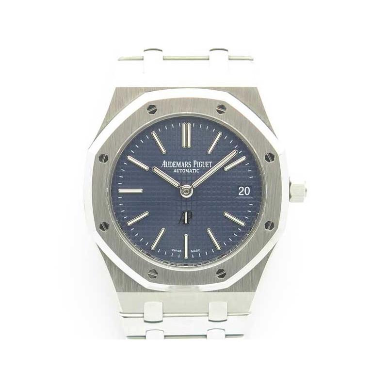572b14823ce Replica Audemars Piguet Royal Oak Jumbo Extra Thin 39MM 15202 JF Stainless  Steel Blue Dial Swiss