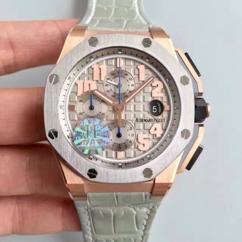 Replica Audemars Piguet Königliche Eiche Offshore Lebron James 26210Oi.Oo.A109Cr.01 Jf V5 Rose Gold Grau Zifferblatt Swiss 3126 84303