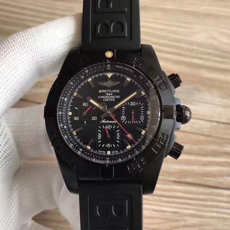 Replica Breitling Chronomat 44 Blacksteel Mb0111C3 / Be35 Gf Pvd Schwarzes Zifferblatt Swiss 7750 83927