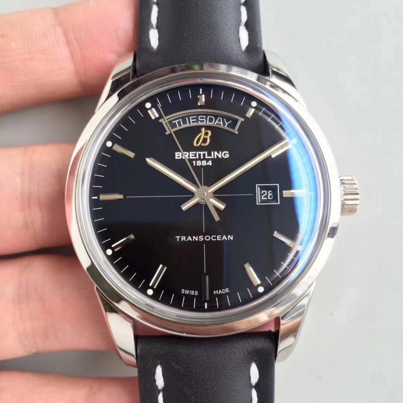 Replica Breitling Transocean Day & Date A4531012/BB69/35X V7 Stainless Steel Black Dial Swiis 2836-2 83839