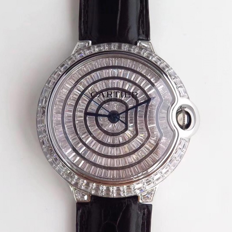 ff5e59a67c2 Replica Ballon Bleu De Cartier T Diamond N Stainless Steel Diamond Dial  M9015 83758