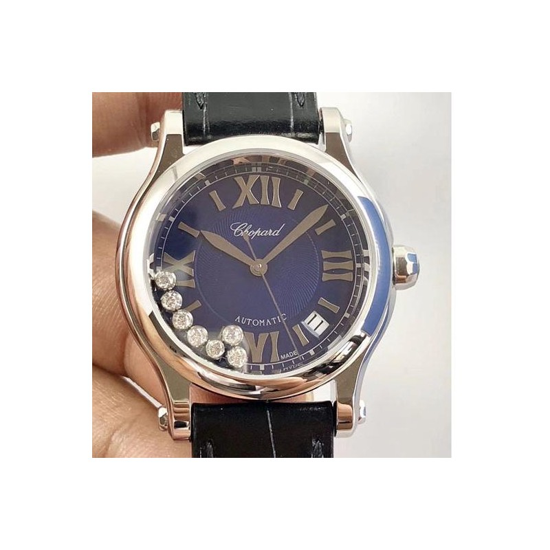 Replica Chopard Happy Sport 36Mm Automatik 278559-3008 N Edelstahl Blue Diamond Dial Swiss 2892 83454