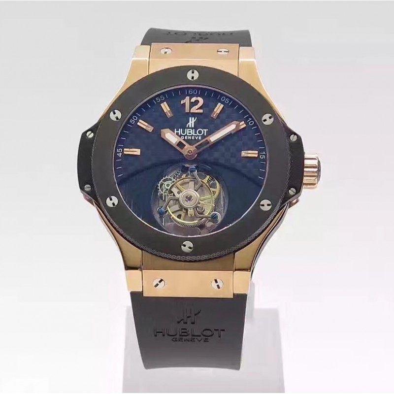 Replica Hublot Big Bang Tourbillon Solo Knall 305.Pm.131.Rx N Roségold Carbon Fibre Zifferblatt Schweizer Tourbillon 83082