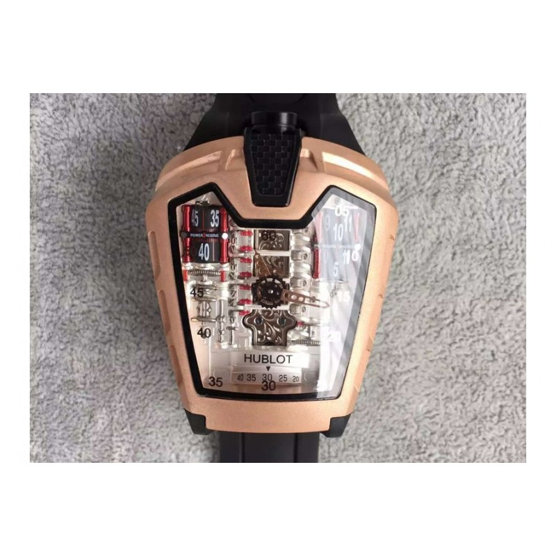 Replica Hublot Laferrari Mp-05 Roségold Rot Skeleton Zifferblatt Swiss 2824 83095