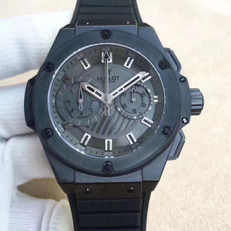 Replica Hublot Big Bang King Power Foudroyante Alle Schwarz 715.Ci.1110.Rx Hbb V6 Keramik Schwarzes Zifferblatt Swiss 7750 83156