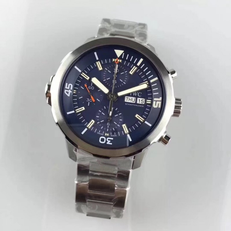 f05361b74b0 Replica IWC Aquatimer Chronograph IW376805 HBBV6 Stainless Steel Blue Dial  Swiss 7750 83067