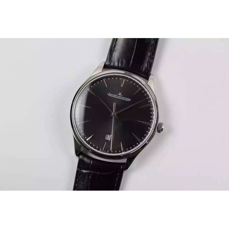 Replica Jaeger-LeCoultre Master Ultra Thin Date Stainless Steel Black Dial Swiss JLC 899 82570