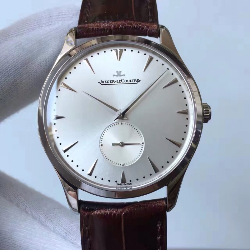 Replica Jaeger-LeCoultre Master Grande Ultra Thin Small Second 1358420 ZF Stainless Steel Silver Dial Swiss Calibre 896 82566