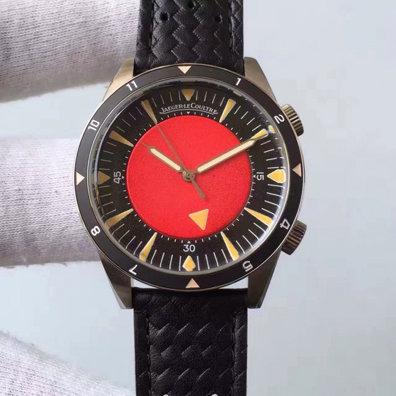 Replica Jaeger-Lecoultre Memovox Tribut An Die Tiefsee Q2028470 Zf Edelstahl Rotes Zifferblatt M9015 82694