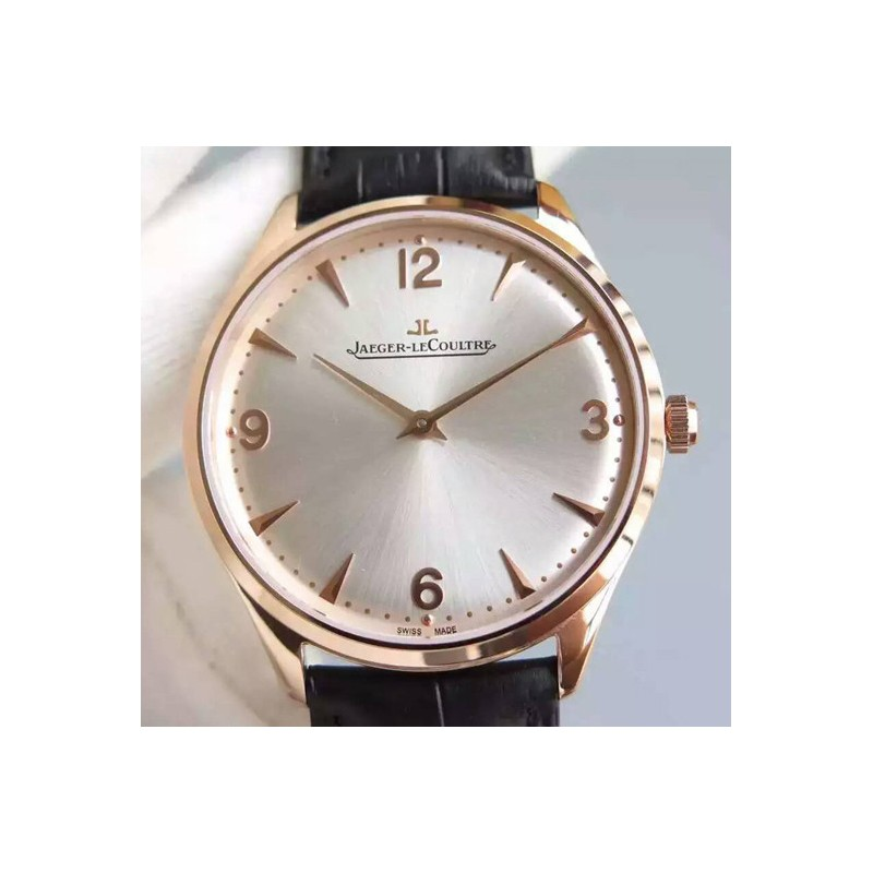 Replica Jaeger-LeCoultre Master Control 1833 Ultra Thin Q1348120 N Rose Gold Silver Dial Swiss Calibre 849 82561