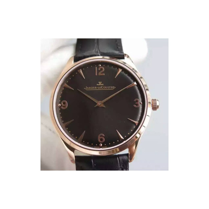 Replica Jaeger-LeCoultre Master Control 1833 Ultra Thin Q1348120 N Rose Gold Black Dial Swiss Calibre 849 82556