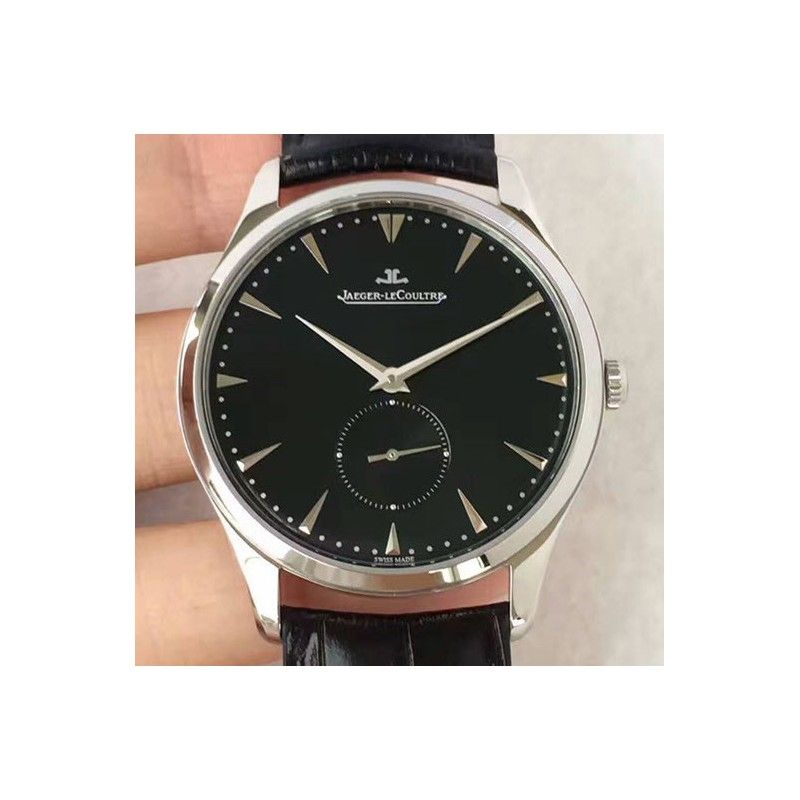 Replica Jaeger-LeCoultre Master Grande Ultra Thin Small Second 1358420 ZF Stainless Steel Black Dial Swiss Calibre 896 82551
