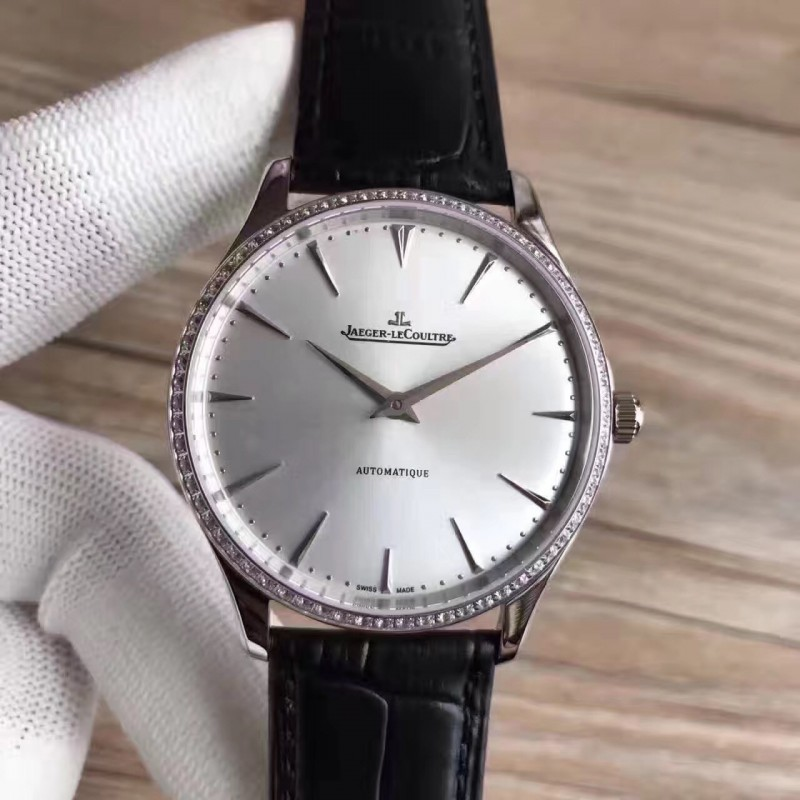 Replica Jaeger-LeCoultre Master Ultra Thin 41 1338421 N Stainless Steel & Diamonds Silver Dial M9015 82549