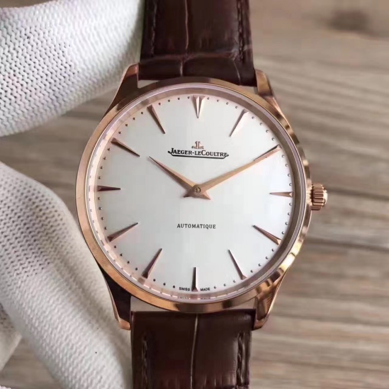 Replica Jaeger-LeCoultre Master Ultra Thin 41 1332511 N Rose Gold Silver Dial M9015 82510