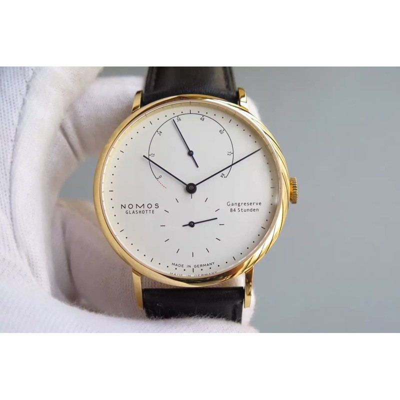 Replica Nomos Lambda Yellow Gold White Dial German DUW 1001 82451