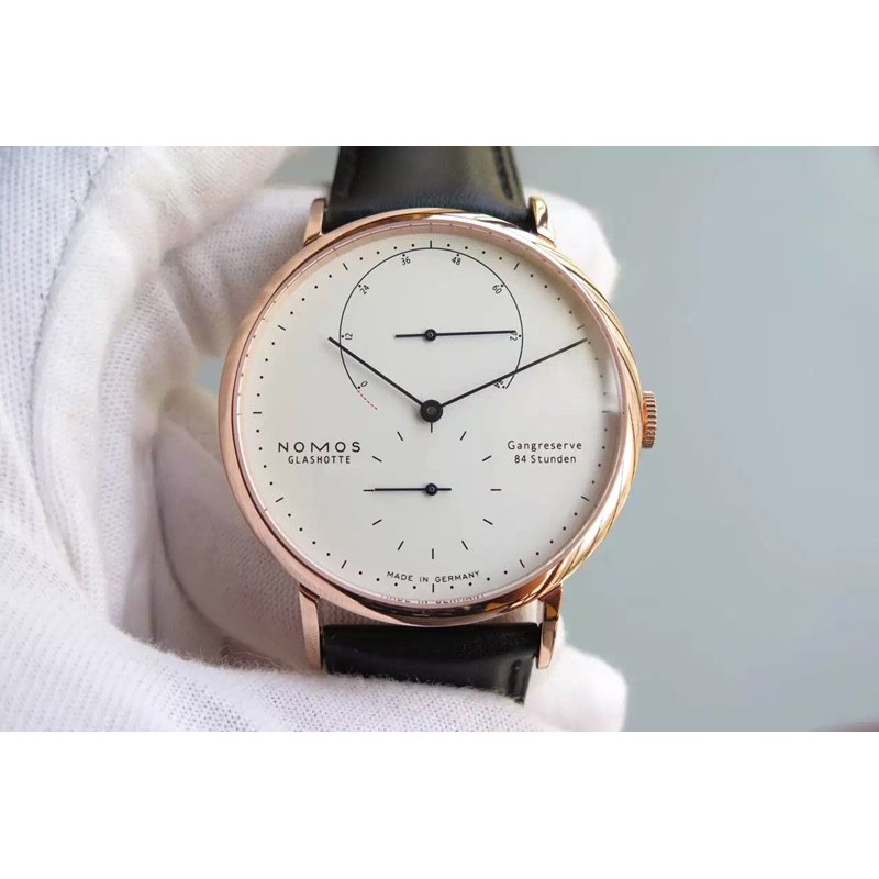 Replica Nomos Lambda Rose Gold White Dial German DUW 1001 82450